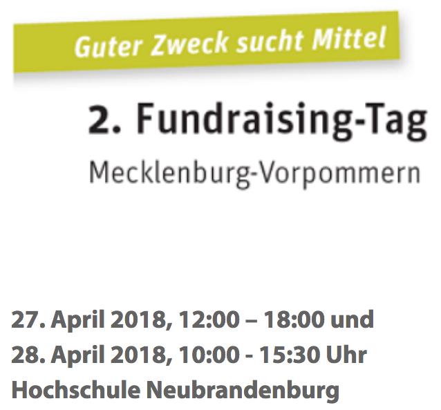 2. Fundraising-Tag in Mecklenburg-Vorpommern
