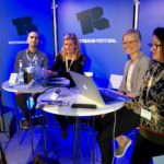 """v.l.n.r. Sadullah Altuntas (ABUPlus International GmbH, Deutschland), Katrin Busche (Arbeit und Leben, Hamburg), Lea Stöver (Creative Europe Desk KULTUR, Deutschland) auf dem Panel """"Explore Europe Gateways for Funding"""", September 2019"""