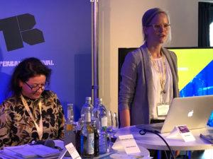 Rosita Kuerbis und Lea Stöver Creative Europe Desk KULTUR auf dem Reeperbahn Festival 2019