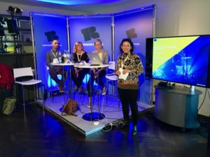 Rosita Kuerbis im Gespräch mit EU-Foerderern im Rahmen des Panels Explore Europe Gateways for Funding auf dem Reeperbahn Festival