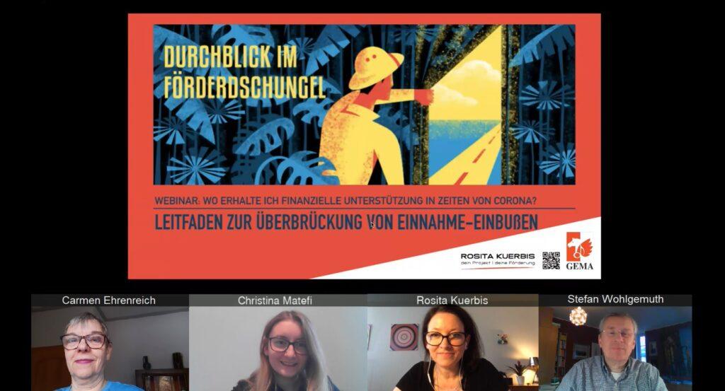 Das Förder-Webinar in Vorbereitung: Das Team Mitglieder-Relationship und Rosita Kürbis
